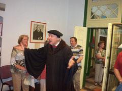 Martin Luther alias B. Naumann aus Wittenberge bei seiner Eröffnungsansprache