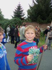 Der Sieger des Entenrennens 2012:  Moritz Geisler