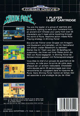 Shining Force (Europa) (Back)