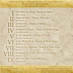 The Fabled Warriors - CD1: Wind (Back)