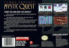 Final Fantasy: Mystic Quest (Back)