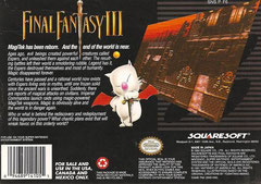Final Fantasy III USA (Back)