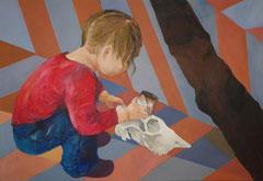 """""""Marie-Madeleine pénitente"""", 2010, 89x130, acrylique sur toile ©"""