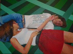 """""""Adam et Eve"""", 2012, 130x97,acrylique sur toile ©"""