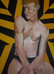 """""""Saint Sébastien"""",2010, 80x50, acrylique sur toile ©"""