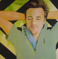 """""""Le sommeil de Saint Pierre"""", 2012, 80x80, acrylique sur toile ©"""