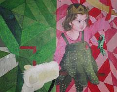 """""""Saint Michel et le dragon"""" 92x73cm, acrylique sur toile ©La Cène, 116x73 cm - copie"""