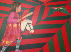 """""""Saint Georges et le dragon"""", 130x97, 2011, acrylique sur toile ©"""
