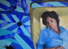 """""""La mort de la Vierge"""", 2012, 130x97, acrylique sur toile ©"""