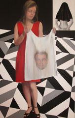 """""""Le voile de Véronique"""", 116x73 cm, acrylique sur toile ©"""