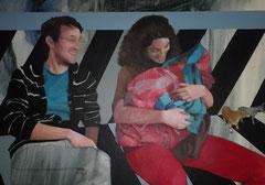 """""""Nativité"""", 2012, 130x97, acrylique sur toile ©"""