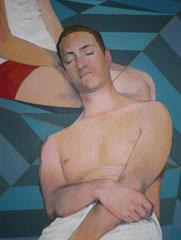 """""""Saint Sébastien"""", 2012, 92x70, acrylique sur toile ©"""