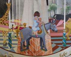 """""""La fuite en Egypte"""" 162x130 cm, acrylique sur toile ©"""