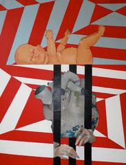 """""""Sacré cœur"""", 2011, 116x89, acrylique sur toile ©"""