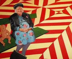 """""""L'annonce faite à Sainte Elisabeth"""", 2011, 130x163, acrylique sur toile ©"""