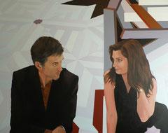 """""""La rencontre de Joaquim et d'Anne à la porte dorée"""", 2012, 162x130, acrylique sut toile ©"""