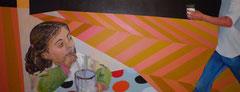 """""""L'annonciation"""", 2010, 100x254, acrylique sur toile ©"""