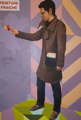 """""""L'incrédulité de Saint Thomas"""", 2011, 130x89, acrylique sur toile ©"""