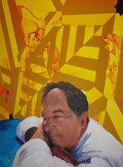 """""""Le songe du roi Salomon"""", 2012, 130x97, acrylique sur toile ©"""