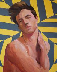 """""""Saint Sébastien"""", 2011, 100x81, acrylique sur toile ©"""