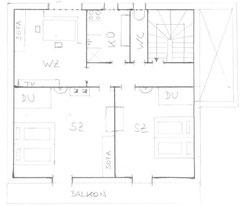 Detailplan Appartement 70m²