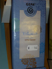 Vollmilch, 33 % Cacao