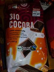 Bio Cocoba Instant, Kakaohaltiges Getränkepulver mit Honig
