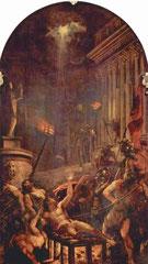 """""""Martyrium des Hl. Laurentius"""" gemalt von TIZIAN zwischen 1548 und 1559"""