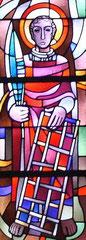 Mittleres Chorfenster der katholischen Pfarrkirche St. Laurentius in Ahrweiler