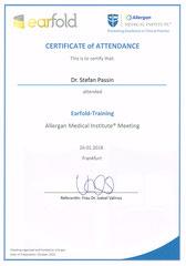 Allergan Earfold®-Zertifikat