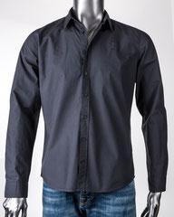 Guapo - Herrenhemd aus Bio-Baumwolle, Vulkangrau
