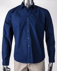 Guapo - Herrenhemd aus Bio-Baumwolle, Mitternachtsblau