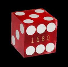 echter Casino-Spielwürfel