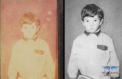 Recuperación y virado al blanco y negro de fotografía mono-color por el paso de los años. Fotografía Andreu Gual.