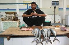 Oman - Fischverkäufer   Foto: Thomas Lenz
