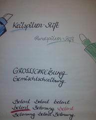 Der richtige Stift mit Farbeinsatz sorgt für bessere Lesbarkeit!
