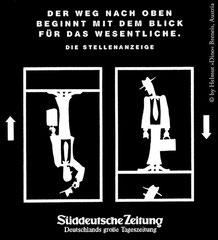 Anzeigenkampagne Süddeutsche Zeitung (gesamt 13 Sujets) - Agentur: Jauch & Partner, München (1993)