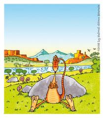 """""""Glück gehabt, kleiner Dino!"""", Seite 5 (2017) - G&G Verlag, Wien"""