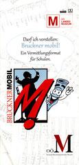 "Logo für ""Bruckner mobil"" - Folder für OÖ. Landesmuseum (2016)"