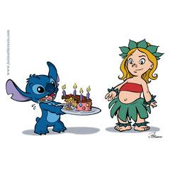 """""""Johanna & Stitch"""" - Geburtstagseinladung für meine Tochter (2018)"""