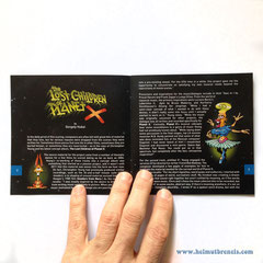 """""""the Lost Children of Planet X"""" Booklet (2018) - Caldera Records Germany"""