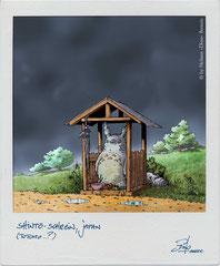 """Hommage an Hayao Miyazaki"" - Beitrag zum Mangarium-Projekt ""Wabi Sabi"", AEC Linz, Next Comic 2016"