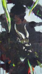Nyala, Oil on canvas,  92 x 52cm, 2017