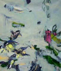 Spring Birds, Oil on canvas, 70 x 60cm, 2014