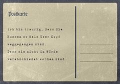// Postkarte 4 / Rückseite //