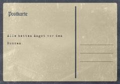 // Postkarte 9 / Rückseite //
