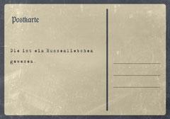 // Postkarte 1 / Rückseite //