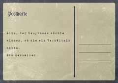 // Postkarte 6 / Rückseite //