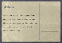 // Postkarte 5 / Rückseite //