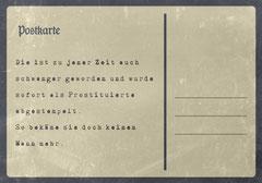 // Postkarte 3 / Rückseite //